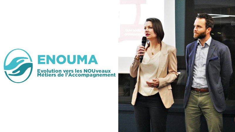 Charlotte Wambergue et Yann Le Goanvic, co-fondateurs d'Enouma