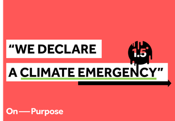 On Purpose declare a Climate Emergency
